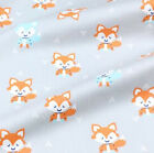 One Pcs Cotton Fabric Pre-cut Cloth Fabric For Sewing Fox Or Bear D2