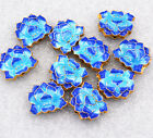 Cloisonne Beads Of Water Lotus Jewelry Accessories Gifts 18x15x6mm