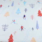 One Pcs Cotton Fabric Pre-cut Fabric For Sewing Skiing Field Printing