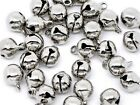 Silver Jingle Bells Tiny Clappers Christmas 9x8mm Jewelry Decoration Wholesale