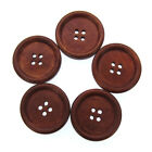 2448 1-14 Large Wooden Button Four Holes Sewing Buttons Craft Scrapbook 3.0cm