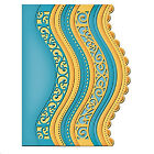 6pcslot Vintage Lace Embrossing Curved Wavy Border Edge Metal Cutting Dies