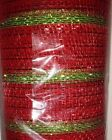 Poly Deco 21 Wide Mesh Christmas Ribbon Roll 30 Total Feet Choose Color