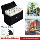 80 Color Markers Pen Touch Five Alcohol Graphic Art Twin Tip Drawing Pen Gift