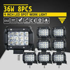 4 Inch 18w Cree Led Work Light Bar Pair Flood Offroad Driving Lights 4wd Truck