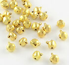 Gold Jingle Bells Tiny Clappers Christmas 9x6mm Jewelry Decoration Wholesale