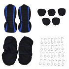 Car Seat Covers Full Cover Set For Auto Car Suv Truck Set Split Bench 5 Headrest