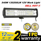 75inch 400w Led Work Light Bar Flood Pods Driving Offroad Tractor 4wd 12v