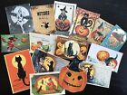 Nb10b Lot Of 15 Vintage Halloween Greeting Card Die Cuts For Card Making
