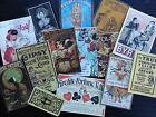 Bb30b -- Lot Of 14 Vintage Gypsy Fortune Teller 2 Die Cuts For Card Making