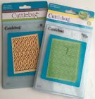 Cricut Cuttlebug Embossing Folders Cut And Emboss Dies 2 Pack Bundle New