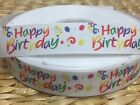 Clearance 3 Yds 78 Celebration Birthday Grosgrain Ribbon- Buy More And Save
