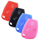 3 Button Silicone Car Key Fob Cover Fit For Mercedes Cl55 Remote Case Holder
