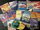 Bb33 Lot Of 14 Adorable Vintage Airplane Poster Die Cuts 4 Crafts Making