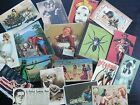 Bb11b Lot Of 18 Vintage Bizarre Weird Cards Die Cuts For Card Making