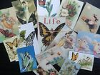 Bb29 -- Lot Of 15 Vintage Butterfly Greeting Card Die Cuts For Card Making