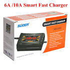 Us 12v 6a10a Auto Fast Lead-acid Battery Charger For Car Motorcycle Lcd Display