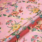 2018 Floral Satin Faux Silk Fabric Chinese Brocade Clothes Crafts Diy Attractive