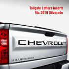 Tailgate Letters Inserts Fits 2019 Silverado Chevrolet Decals Stickers Vinyl