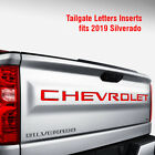 Tailgate Letters Inserts Fits 2019 Silverado Chevrolet Decals Stickers Vinyl Cut