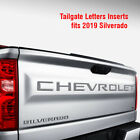 Tailgate 2019 Silverado Chevrolet Letters Inserts Fits Decals Stickers Vinyl-cut