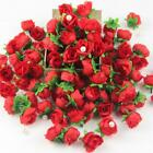 100x Mini Roses Artificial Silk Flower Heads Party Wedding Home Decor Wholesales