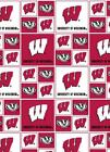 University Of Wisconsin Badgers Ncaa Fabric Box Logo Pattern 020