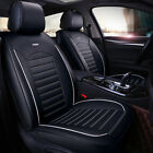 Universal Deluxe 5-seats Car Seat Cover Front Pu Leather Rear Cushion Full Set