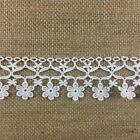Trim Lace Daisy Dance Design Venise 2 Wide Choose Color. Multi Use -white