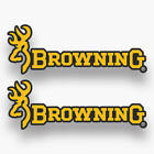 2x Browning Stickers Decals Vinyl Firearms Hunting Car Window Truck Buck Deer