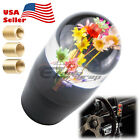Universal Vip Racing Clear Crystal Real Flowers Shift Bouquet Knob Head Manual