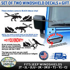 2pc For Jeep Windshield Easter Egg Sticker Decal Sasquatch T-rex Godzilla More