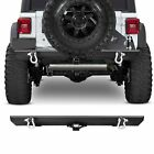 Front Rear Bumper W Led Light Winch Plate D-ring For 87-06 Jeep Wrangler Tj Yj