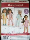 Choice Of New Simplicity Sewing Patterns 18 American Girl Doll Clothes Uncut