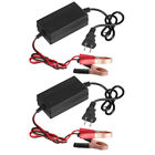 2pack 12v Auto Car Battery Charger Tender Trickle For Maintainer Boat Motorcycle