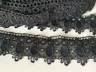 Super Guipure Beautiful Daisy White Black Lace Trim Sewing Craft Dcor Pillow