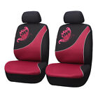 2 Car Seat Covers Mesh Universal Front Set Butterfly Embroidery Fit Airbag Women
