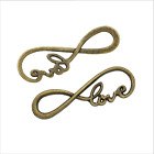 20pcs Infinity Symbol Love Hope Connector Charms For Diy Jewelry Bracelet Making