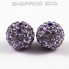 Rubyca 12mm Pave Czech Crystal Clay Disco Ball Clay Beads Fit Shamballa Bracelet