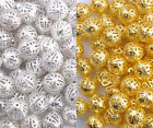 Gold Silver Plated Metal Filigree Spacer Beads Choose 4mm 6mm 8mm 10mm 12mm