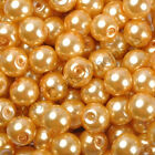 Top Quality Czech Glass Pearl Round Beads Choose - 4mm 6mm 8mm
