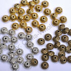 Tibetan Silver Gold Bronze Tone Tiny Charms Spacer Beads 7mm Ca784