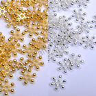 Silver Golden Flower Daisy Loose Spacer Beads - Choose 6mm 8mm 10mm Wholesale
