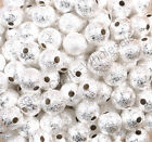 Silver Gold Round Stardust Copper Ball Spacer Beads 4mm 6mm 8mm 10mm 12mm