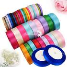 61525mm Satin Ribbon Sewing Fabric Gifts Wrapping Wedding Party Decoration