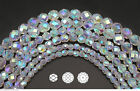 Czech Fire Polished Round Faceted Glass Beads In Crystal Ab2x Fully Coated 16