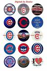 Chicago Cubs 1 Circles Bottle Cap Images. 2.45-5.50 Free Shipping