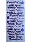 Happy Easter Peel Off Stickers Spring Flowers Shimmer Foil Stickers Card Making