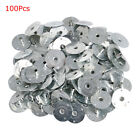 100200pcs Metal Candle Wick Sustainer Wick Tabs Silver For Candle Making Gift
