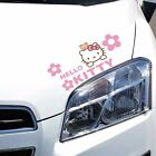 S M Hello Kitty Cat Bear Flower Watching Eyelid Bumper Wall Decals Car Stickers